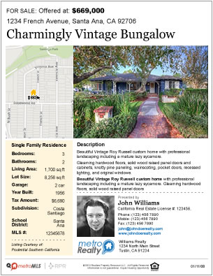 Up-To-Date Property Flyer